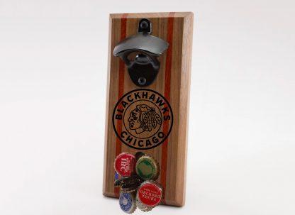 Chicago Blackhawks Circle Logo Bottle Opener with Caps