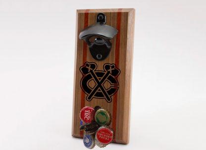 Chicago Blackhawks Tomahawk Logo Bottle Opener with Caps