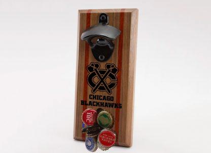 Chicago Blackhawks Tomahawk with Name Logo Bottle Opener with Caps