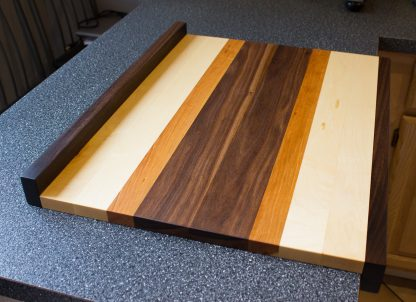 Walnut Cherry and Maple Pastry Board Kitchen