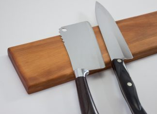 Single Wood Magnetic Knife Holders