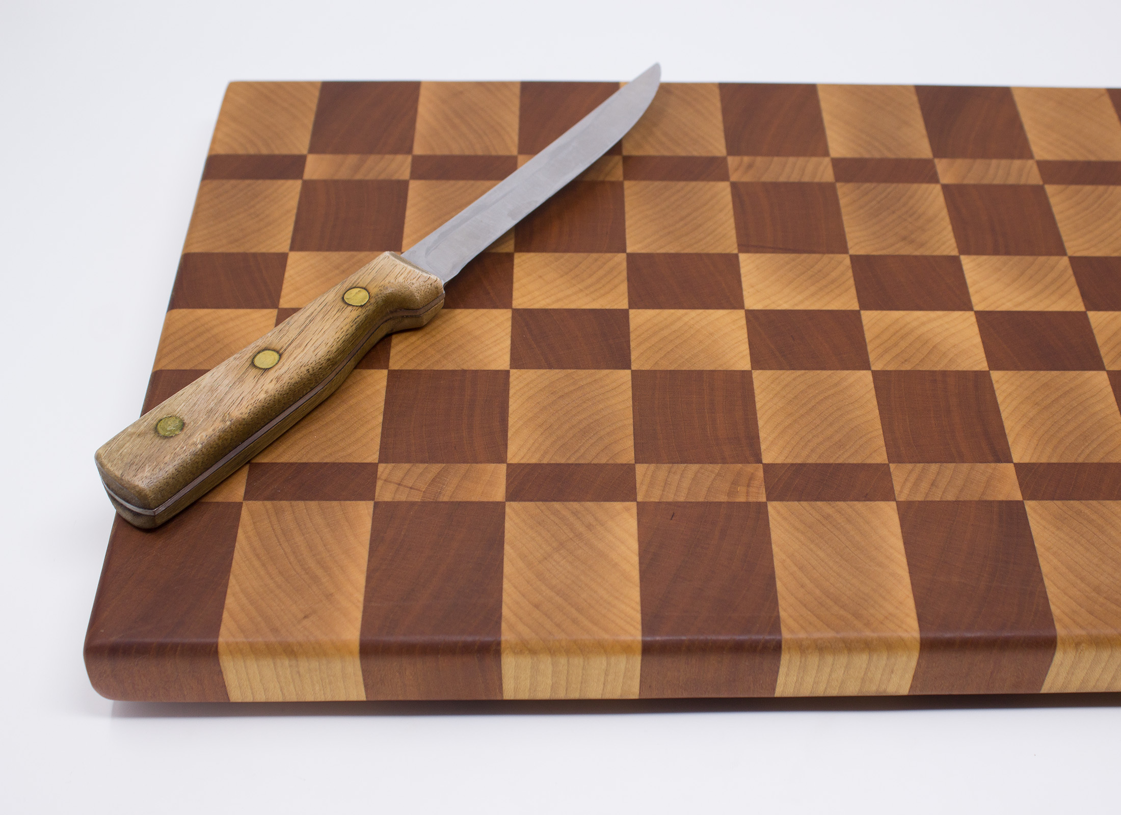 Checker board cutting board
