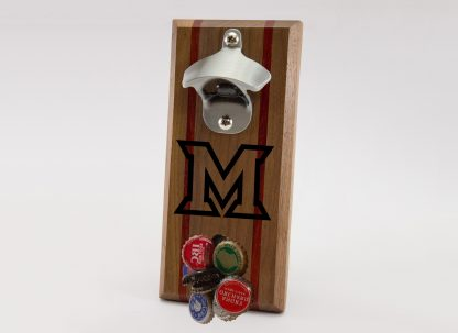 Miami of Ohio Redhawks M Logo with Silver