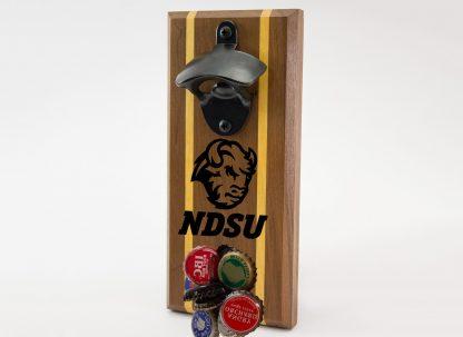 North Dakota State University Bison Head with Black