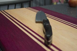 Purpleheart and Maple Stripped Close Up